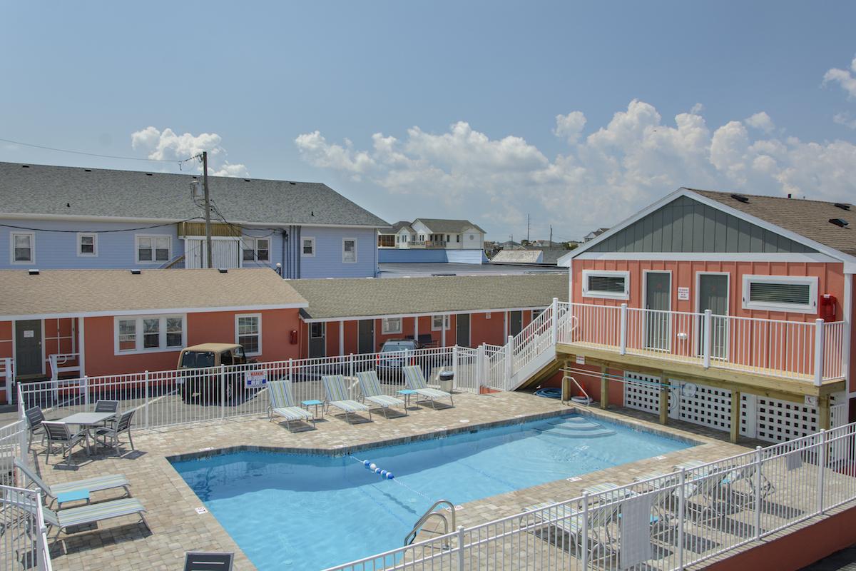 Pool at See Sea Motel in Kill Devil Hills