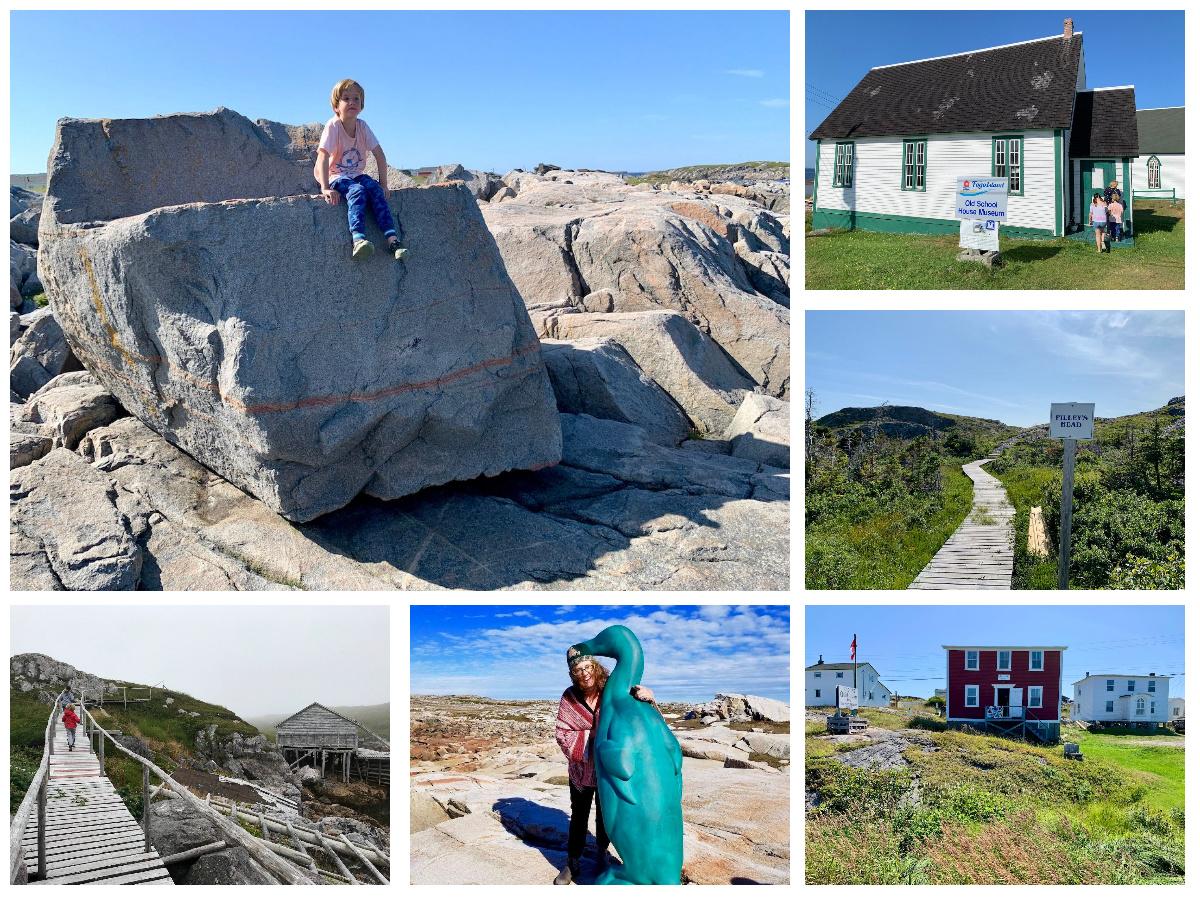 Exploring sites on Fogo Island