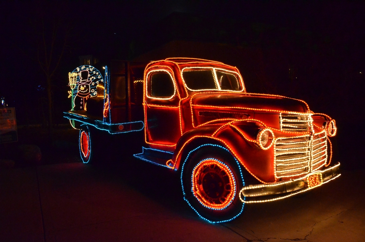 River of Lights: Part of the dazzling Christmas walk-through light display in Albuquerque