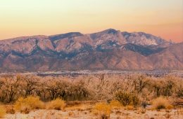 The Sandia Mountains are located just east of Albuquerque