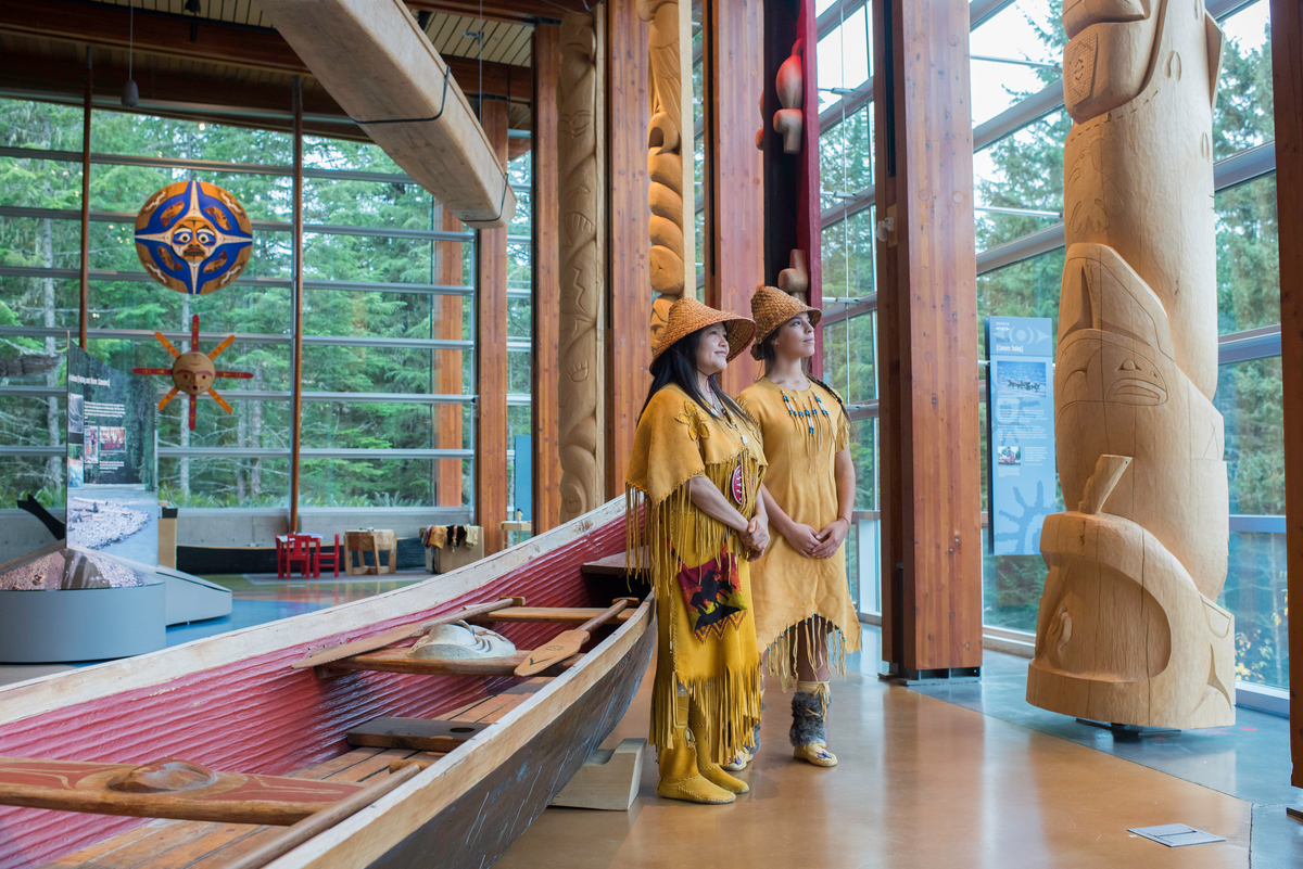Inside the Squamish Lil'wat Cultural Centre, Whistler