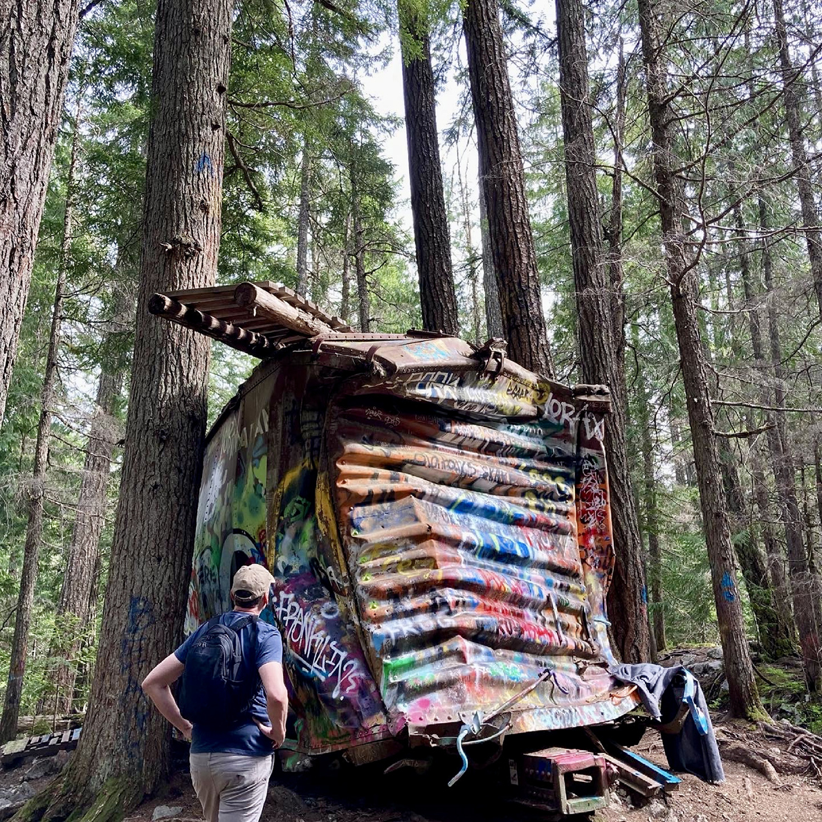 Train wreck is hiking destination in Whistler