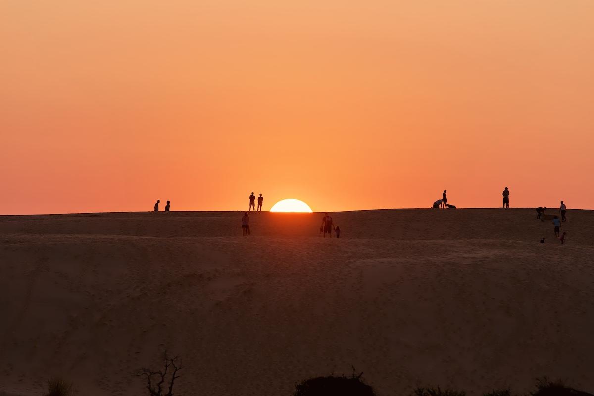 Sunset at Jockey's Ridge State Park