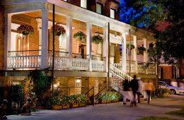 Saratoga Arms at night