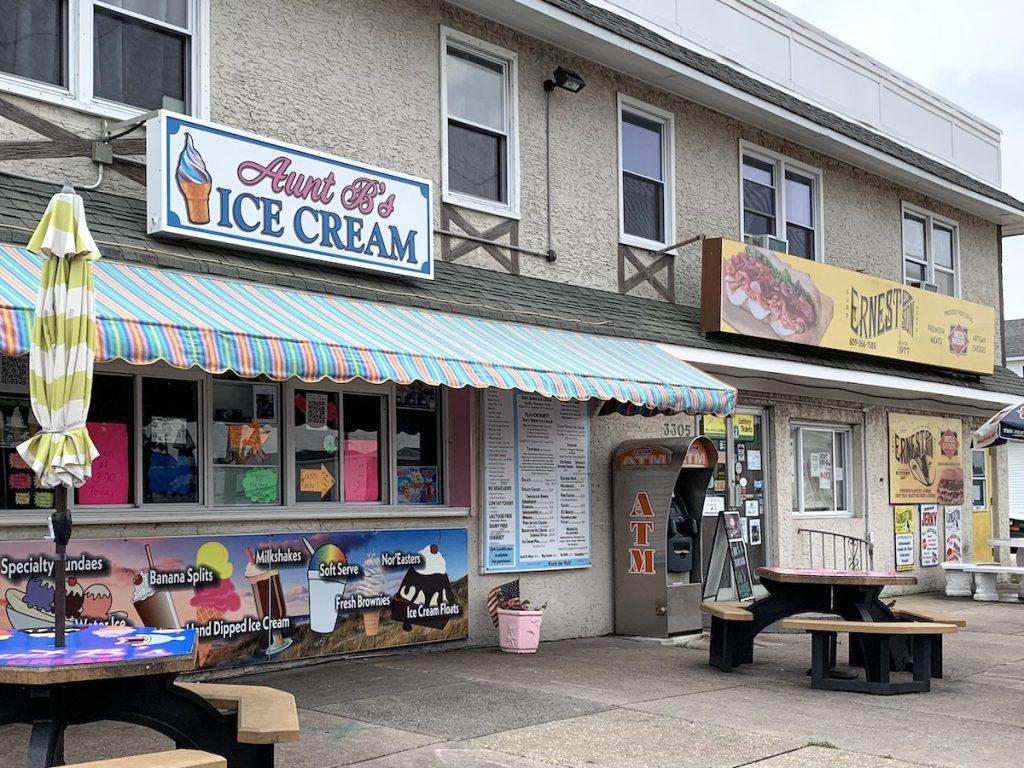 Weekend at Brigantine Beach: Ice cream is best at Aunt B's and sandwiches are best at Ernest's next door.