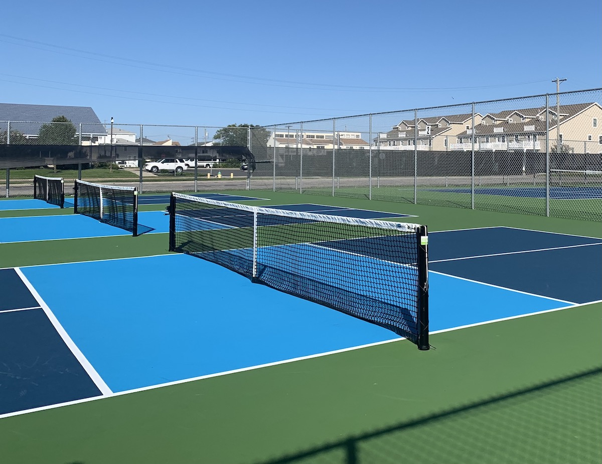 Pickle ball enthusiasts will enjoy the six new outdoor courts at the recreation center
