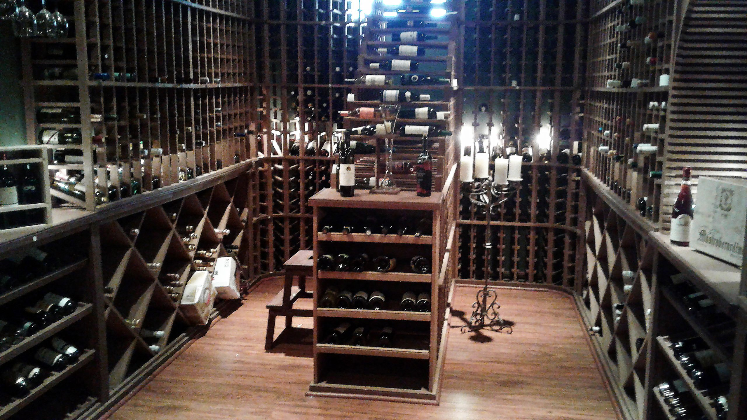 The wine cellar of the Inn at Thorn Hill, located in Jackson, New Hampshire