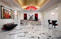 Reception area Grand Bohemian Hotel Charlotte